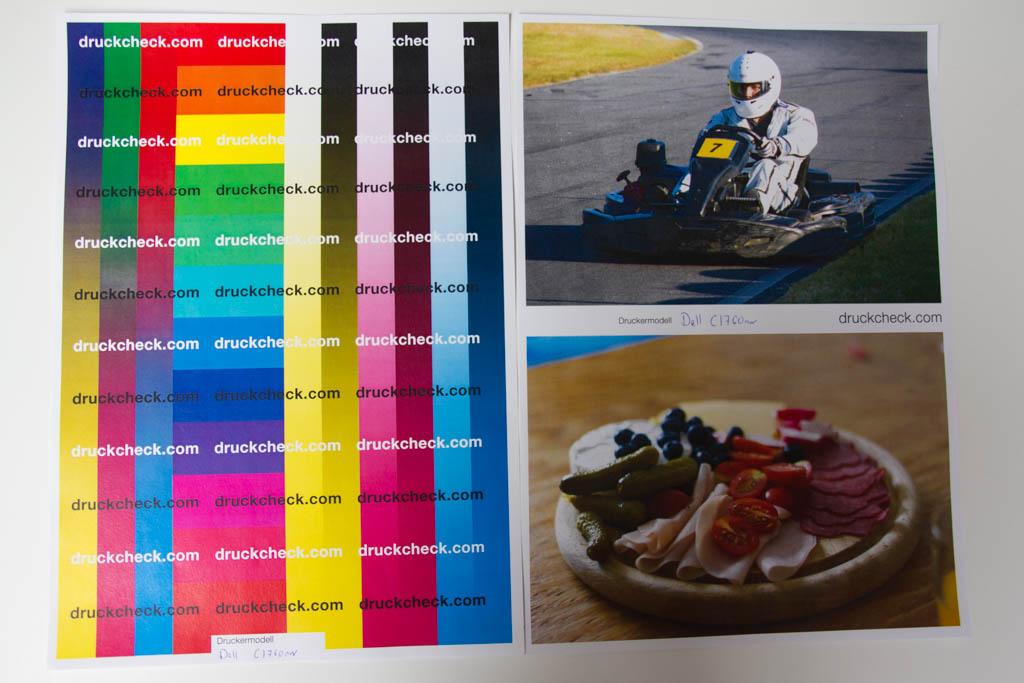 Farb- und Fototest des Dell C1760nw
