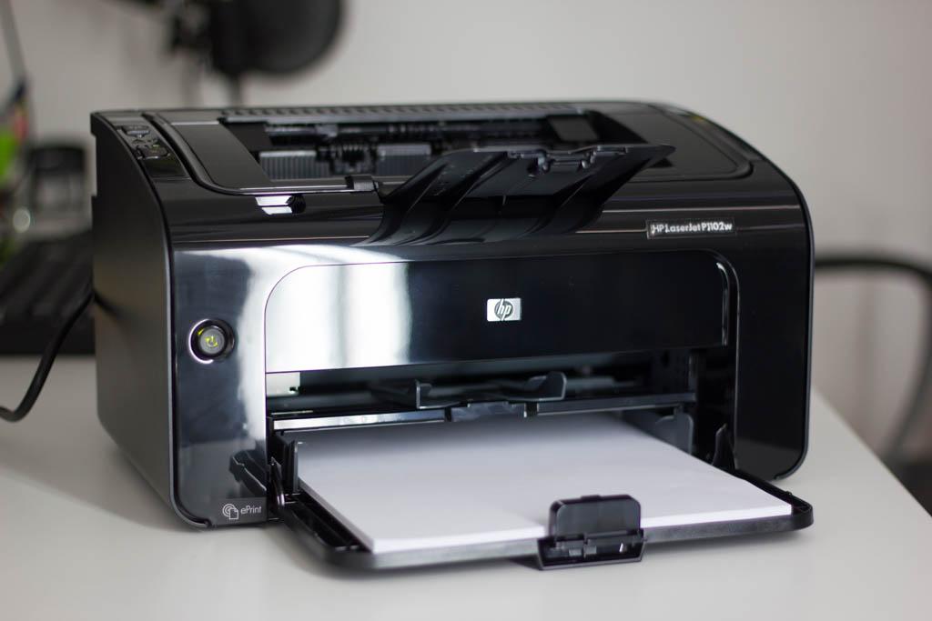 HP Laserjet P1102w Testgerät