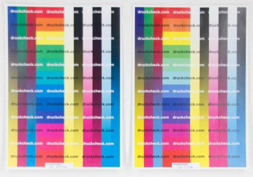 Farbausdruck Testergebnisse HP M277dw im Vergleich mit Dell E525w