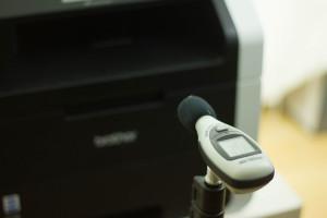 Messung der Lautstärke des Druckers